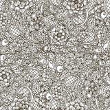 Modèle sans couture floral d'abrégé sur griffonnage de vecteur illustration stock