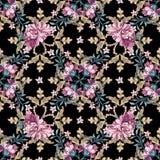 Modèle sans couture floral dans le style baroque Image libre de droits
