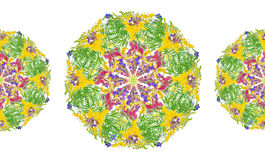 Modèle sans couture floral de cadre stylisé - bouquet pour l'invitation Images libres de droits