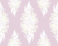Modèle sans couture floral de cadre stylisé - bouquet pour l'invitation Photographie stock libre de droits