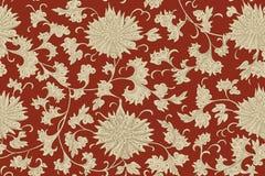 Modèle sans couture floral de chinois traditionnel pour votre conception Fond Vecteur illustration libre de droits
