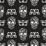 Modèle sans couture floral de crâne Image stock