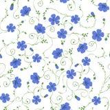 Modèle sans couture floral de lin Photos libres de droits