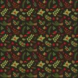 Modèle sans couture floral de Noël illustration stock