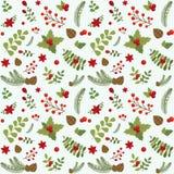 Modèle sans couture floral de Noël illustration de vecteur