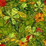 Modèle sans couture floral de vecteur Image libre de droits