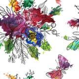 Modèle sans couture floral de vecteur de vintage Images libres de droits