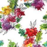 Modèle sans couture floral de vecteur de vintage Photo libre de droits