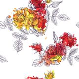 Modèle sans couture floral de vecteur de vintage Images stock
