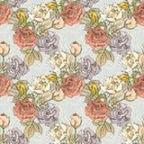 Modèle sans couture floral de vintage Photo libre de droits