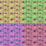 Modèle sans couture floral de vintage avec les éléments tirés par la main Photographie stock