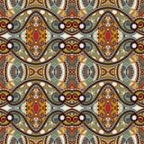 Modèle sans couture floral de vintage de la géométrie Images libres de droits