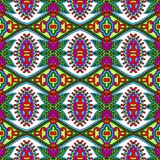 Modèle sans couture floral de vintage de la géométrie Image libre de droits