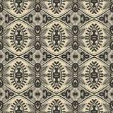 Modèle sans couture floral de vintage de la géométrie Photographie stock