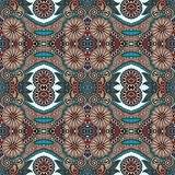 Modèle sans couture floral de vintage de la géométrie Images stock