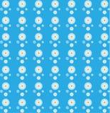 Modèle sans couture floral des marguerites blanches à l'arrière-plan bleu illustration de vecteur