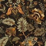 Modèle sans couture floral, effet de texture Ornement indien Fleurs et Paisley décoratifs de vecteur Type ethnique Conception Image stock