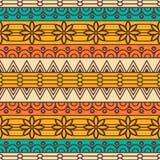 Modèle sans couture floral ethnique Images stock