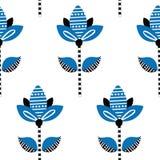 Modèle sans couture floral folklorique tiré par la main illustration libre de droits