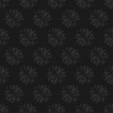 Modèle sans couture floral foncé sur le fond noir Photographie stock