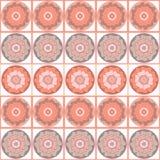 Modèle sans couture floral géométrique dans des couleurs en pastel Photographie stock libre de droits