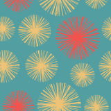 Modèle sans couture floral lumineux avec les pissenlits tirés par la main illustration libre de droits