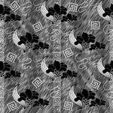 Modèle sans couture floral moderne Backgrou grunge de hachure rayée Images libres de droits