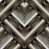 Modèle sans couture floral rayé moderne Geometri abstrait de vecteur Images stock