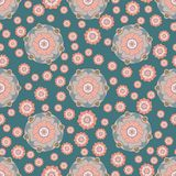 Modèle sans couture floral stylisé dans le style oriental Illustration Stock