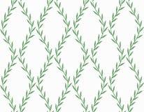 Modèle sans couture floral vert des feuilles sur le blanc illustration de vecteur