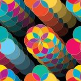 Modèle sans couture foncé de saut de fleur de cercle illustration libre de droits