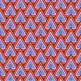 Modèle sans couture foncé géométrique abstrait Photos libres de droits