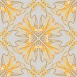Modèle sans couture, fond avec l'ornement floral dans le style d'Art nouveau, illustration libre de droits