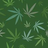 Modèle sans couture - fond de feuille de cannabis Image libre de droits
