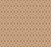 Modèle sans couture forgé beige sur le fond brun illustration de vecteur