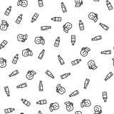 Modèle sans couture frais de bouteille de boissons en plastique d'eau illustration stock