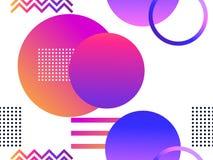 Modèle sans couture futuriste avec des formes géométriques Gradient avec des tons pourpres Rétro fond de Synthwave Retrowave Vect illustration libre de droits