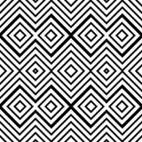 Modèle sans couture géométrique abstrait en noir et blanc, vecteur illustration libre de droits