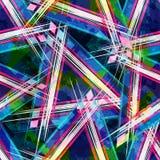 Modèle sans couture géométrique abstrait lumineux dans le style de graffiti illustration de vecteur de qualité pour votre concept illustration stock
