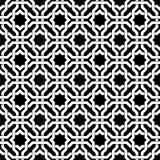 Modèle sans couture géométrique arabe noir et blanc, vecteur image stock