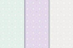 Modèle sans couture géométrique avec des éléments de cercle Collection de fond de textile ou de papier peint Photos stock