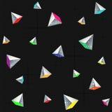 Modèle sans couture géométrique avec des pyramides Images stock