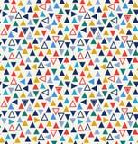 Modèle sans couture géométrique avec des triangles illustration de vecteur