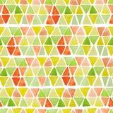 Modèle sans couture géométrique avec les places et les triangles tirées par la main d'aquarelle Fond coloré moderne d'abrégé sur  illustration libre de droits