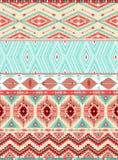 Modèle sans couture géométrique aztèque Photos libres de droits