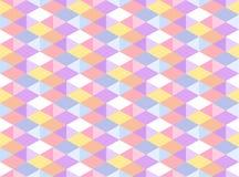 Modèle sans couture géométrique coloré par pastel de vecteur Images libres de droits
