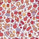 Modèle sans couture géométrique d'abrégé sur Christmassy illustration stock
