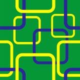 Modèle sans couture géométrique dans le concept de drapeau du Brésil Image stock