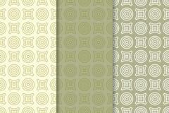 Modèle sans couture géométrique de forme ronde Cercles et losange Photographie stock