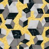 Modèle sans couture géométrique de luxe de marbre illustration de vecteur